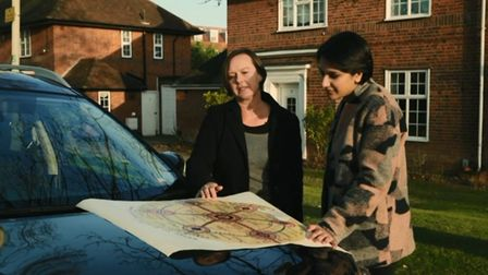 Dr. Sue Currell and Angela Saini in Welwyn Garden City. Picture: BBC