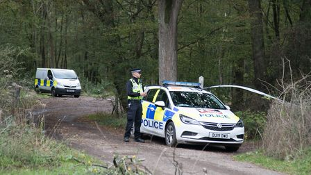 A suspected body has been found in Norton Green woodland off of Chadwell Road near Stevenage. Pictur