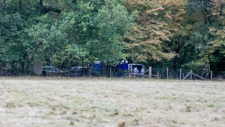 A tent has been put up at the scene. Picture: Matt Margesson