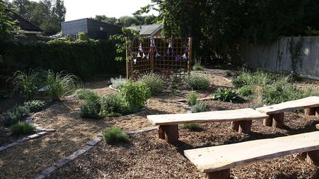The opening of St John's School Digswell Sensory and Wellness garden. Picture: DANNY LOO