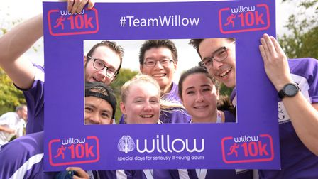 A group of runners who took part in the Willow 10K run in Hatfield. Picture: Christopher Dean / Scan