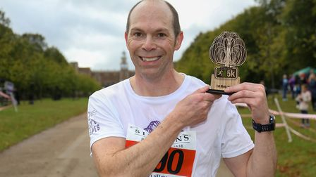 Nigel Cavill claimed first place in the Willow 5K run at Hatfield House. Picture: DANNY LOO