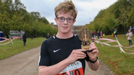Alistair Bennett claimed second place in the Willow 5K. Picture: DANNY LOO