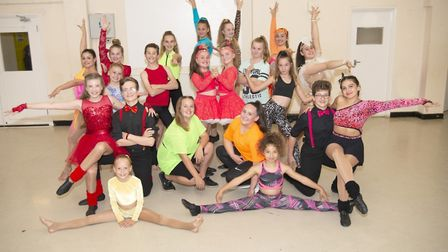 Welwyn Garden City-based Dance-Beat dancing school's elite competition squad. Picture: Dance-Beat