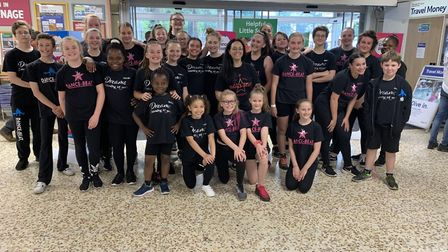 Welwyn Garden City-based Dance-Beat perfomed at Tesco as part of a national event. Picture: Dance-Be