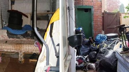 Living conditions in two properties inspected by housing officers from Fenland Council. A major crac