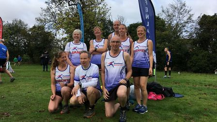 Fenland RC members at the Frostbite League race in St Neots (pic Tim Chapman)