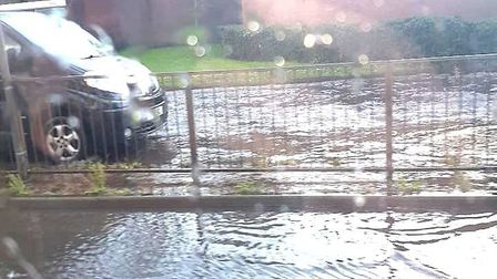 Flood! Wisbech was left underwater after just 20 minutes of heavy downpour on Tuesday, October 8. Pi