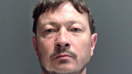 Liam George has been jailed for 19 months following an attack on his wife and daughter at their Wisb