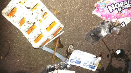 Chelsy Flynn, of Bramley Road, Wisbech took these photos of dirty needles that have been dumped in t