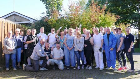 A group of students from CWA redecorated a day centre for adults with learning difficulties in Wisbe