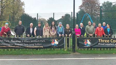 A £23,000 upgrade of street lighting in Wisbech Park has been given a green makeover in time for the