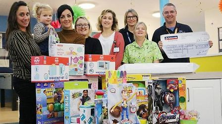 A family from near Wisbech raised £2,500 to buy toys and equipment for hospitals. Picture: Dominic B