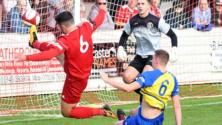 Wisbech Town captain Sam Spencer is banned for their home clash against Belper Town. Picture: IAN CA