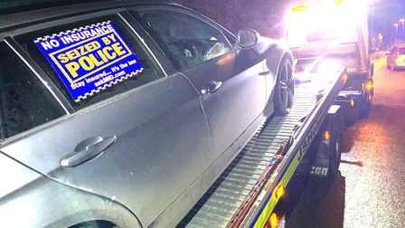Officers made the driver of this car clean his own dirty number plate before they discovered a secre