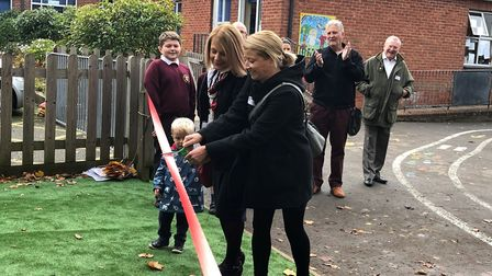 A new playground has been unveiled at Welwyn St Mary's Primary School. Picture: Welwyn St Mary's