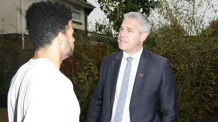 Steve Barclay MP with paralympian Sam Ruddock. Picture: Harry Rutter/ARCHANT