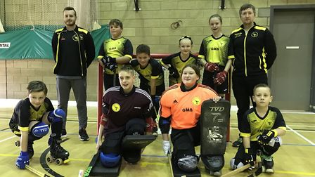 The Wisbech Skaters Scorpions Under 13 team. Picture: SUBMITTED