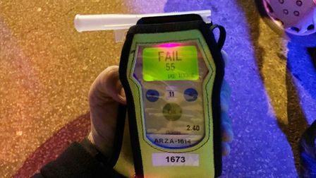 A drink driver was caught after swerving past Wisbech Police Station on Tuesday morning (November 5)