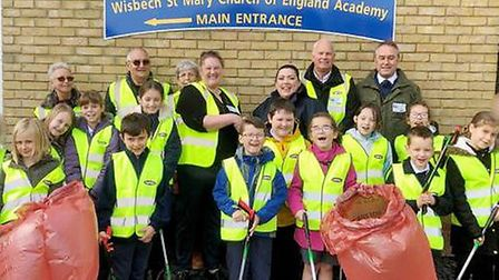 School sets up litter picking group to keep village tidy. Picture: SARAH BLIGH