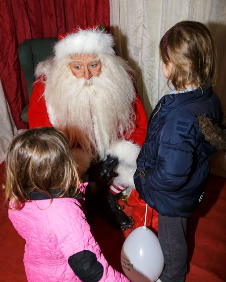 Santa at a previous Welwyn Garden City Christmas Lights switch-on event. Picture: Kevin Lines