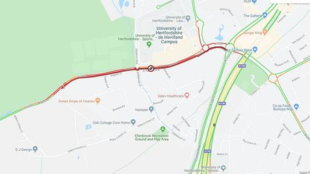 Herts County Council advises to use other routes at this time. Picture: HCC.