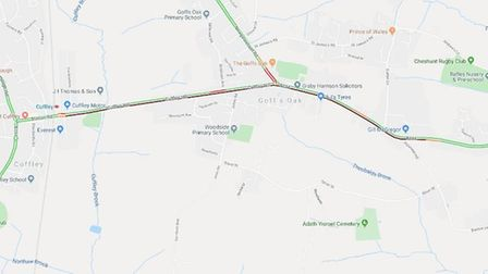 Motorists are being advised to avoid the B156 in Cuffley this morning. Picture: Google
