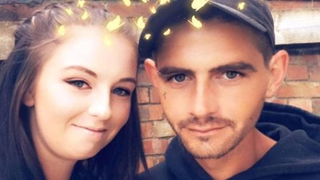 Ben (known as Benji) Johnson and his fiancée Ashleigh, Mr Johnson was the victim of a fatal collisio