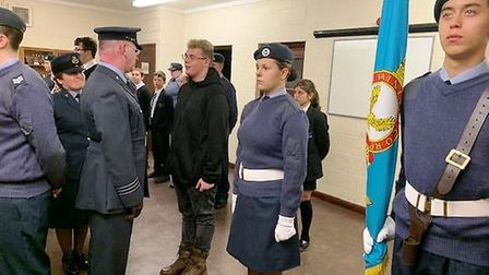 Air cadets from the 272 Wisbech Squadron made sure their uniform was spotless, stood in formation an