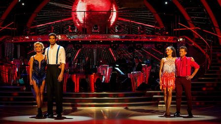 The bottom two couples on the Strictly Come Dancing Results Show - Nadiya Bychkova and David James,