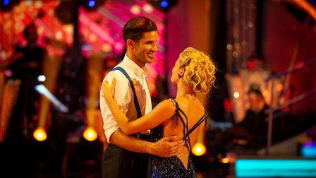 David James and Nadiya Bychkova take their farewell dance on Strictly Come Dancing. Picture: BBC / G