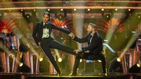 Alex Scott and Neil Jones dancing on the fifth Strictly Come Dancing live show of the 2019 series. P