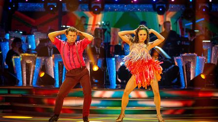 Mike Bushell and Katya Jones dancing on Strictly. Picture: BBC / Guy Levy