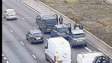 The crash near Potters Bar and South Mimms. Picture: Highways England.