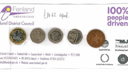 £1.62 in coins, the rest in notes, was popped through the letter box of Brian Jones to refund him fo