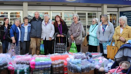 John the wool man is honoured by his customers at Hatfield market. Picture: Supplied.