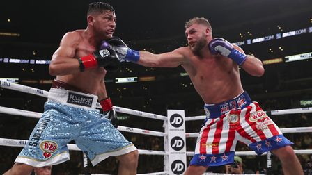 Billy Joe Saunders won by TKO against Marcelo Esteban Coceres. Picture: ED MULHOLLAND/MATCHROOM BOXI