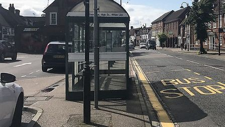 An Arriva bus stop in Stevenage. Picture: Amy Thorburn