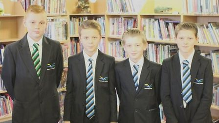 Four students from Thomas Clarkson Academy were praised by police for helping them find a missing vu