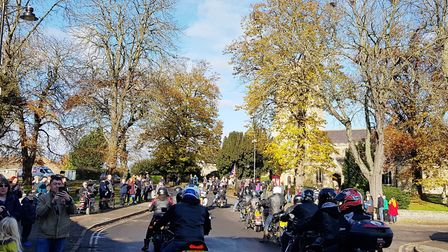 This year's remembrance annual parade set off outside Littleport Ex-Servicemen's Club. Picture: CATH