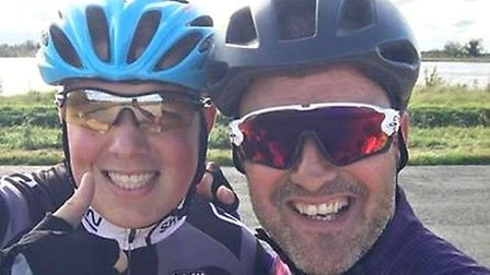 PE teacher Mark Norris, 47, and Brandon Edwards, 16 - who is partially blind - will take on the chal