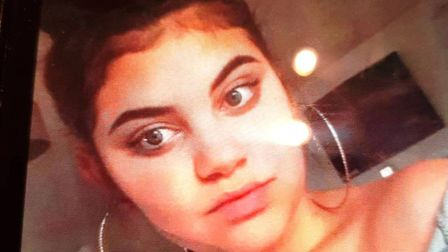Missing 16-year-old Chloe Colton from Northampton (pictured) could be in Wisbech, say police. Pictur