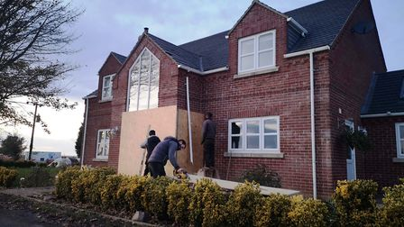 Michael and Angela Bates' home in Harolds Bank, Gorefield where a Mini Cooper smashed through the fr