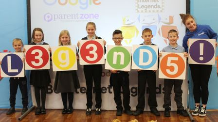 Children at West Walton Primary in Wisbech learn how to stay safe online as part of Google programme