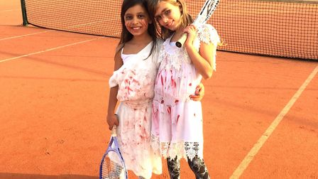 Young tennis players dressed in their spookiest outfits as Wisbech Tennis Club held a Halloween half