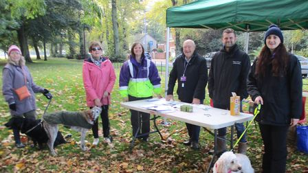Dog owners and their four-legged friends have pledged to help stop dog fouling in their community. P