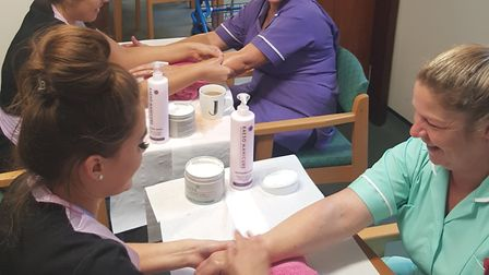 Beauty therapy students from the College of West Anglia's (CWA) Wisbech campus have supported NHS st