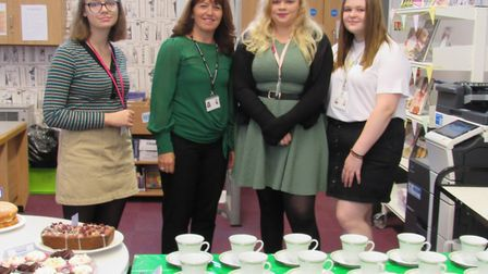 Students at Cromwell Community College in Chatteris helped to raise hundreds of pounds for Macmillan