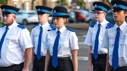 Fenland volunteer police cadets celebrate their hard work and outstanding achievements during passin