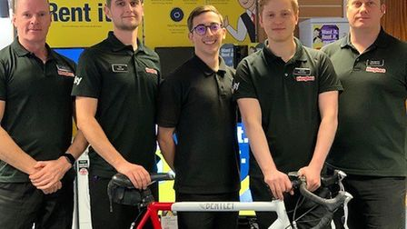 Eight men are planning to take part in a 24-hour Cyclothon in Kings Lynn to help raise money for a T